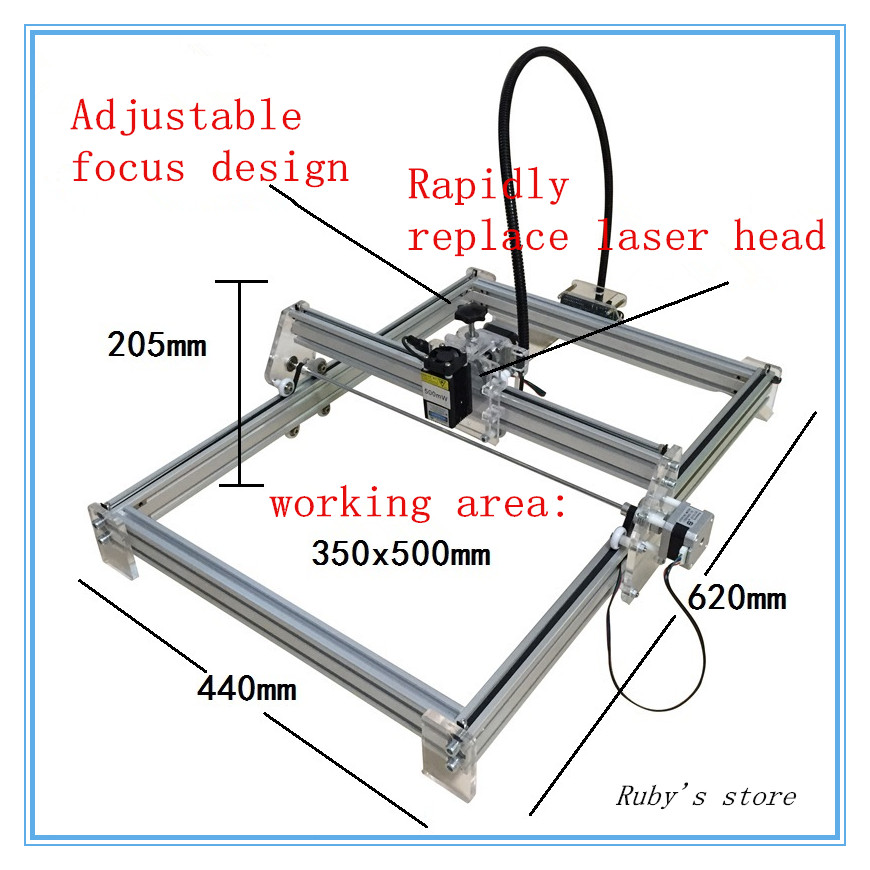 2018 Latest 2500MW DIY laser engraving machine laser machine working area 35*50cm2018 Latest 2500MW DIY laser engraving machine laser machine working area 35*50cm