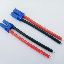 EC5 мужской женский соединительный пигтейльный кабель 10 см 10# 10AWG силиконовый провод RC Lipo батарея