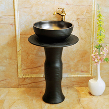 Промышленная ветровая раковина-основание интегрированный цилиндрический умывальник напольный Тип античный умывальник фарфоровая керамическая раковина-основание
