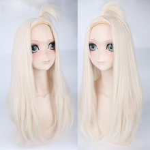 Fairy Tail Mirajane Strauss Long Straight Cosplay Wigs for Women High Quality Anime Party Universal Synthetic Hair Wig Beige