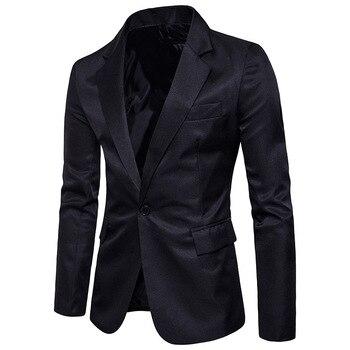 Pria Jaket Setelan Jaket Tipis Pria Blazer Katun Slim Inggris Suit Blaser Masculino Pria Jaket Blazer Pria