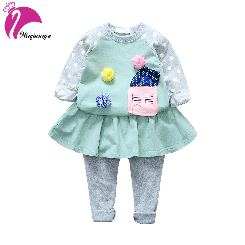 Girls Clothes Sets Long Sleeve Sport Suit Winter Baby Girl Clothes Sets Cotton Tracksuit For Kids Outfit Suits Children Clothing original new arrival 2017 adidas neo label m fav ft aop tp men s pants sportswear