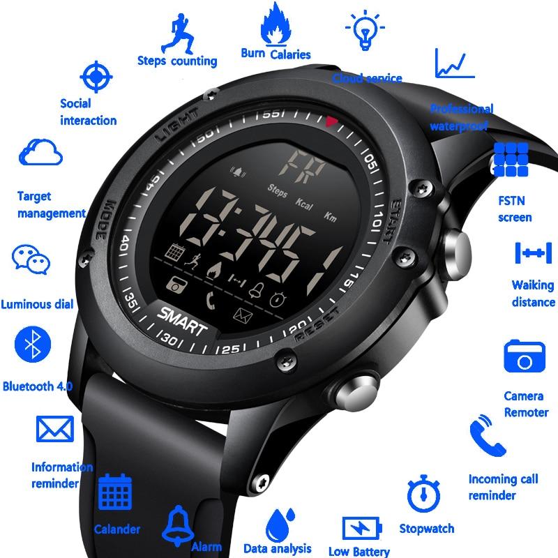 BANGWEI Smart Watch Sport Pedometer Waterproof IP68 Bluetooth Men Digital Clock Call Reminder SmartWatch For ios Android Phone