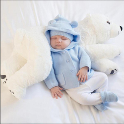 Bébé oreiller ours polaire peluche animaux Kawaii peluche bébé peluche enfants jouets pour chambre d'enfants décoration poupée 60cm