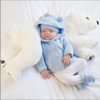 Baby Pillow Polar Bear Stuffed Plush Animals Kawaii Plush Baby Soft Toy Kids Toys For Children's Room Decoration Doll 60cm