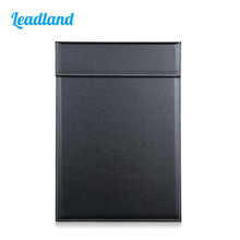 Office A4 PU Leather File Paper Clipboard Folder With Magnetic Clip A042 Black