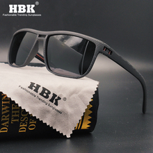 HBK Men TR90 Polarized Sunglasses for Driving Fishing Square Ultralight Unbreakable Sun Glasses Male Anti UV Protection Goggles