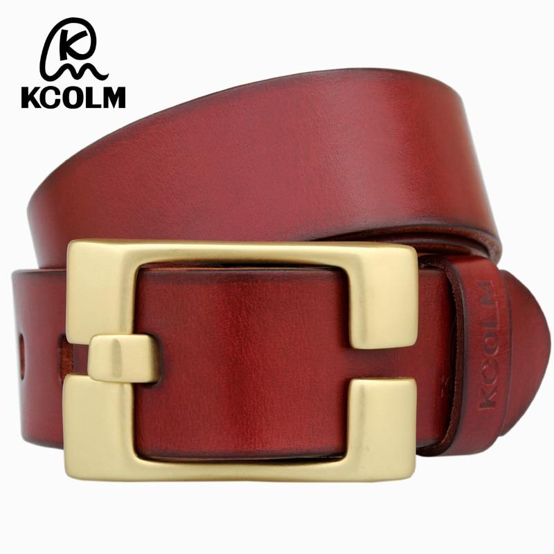 Brand cupreou Buckle Strap Male Genuine Leather feragamo belt Men Fashion Luxury Man Ceinture Casual Business jeans brass belt