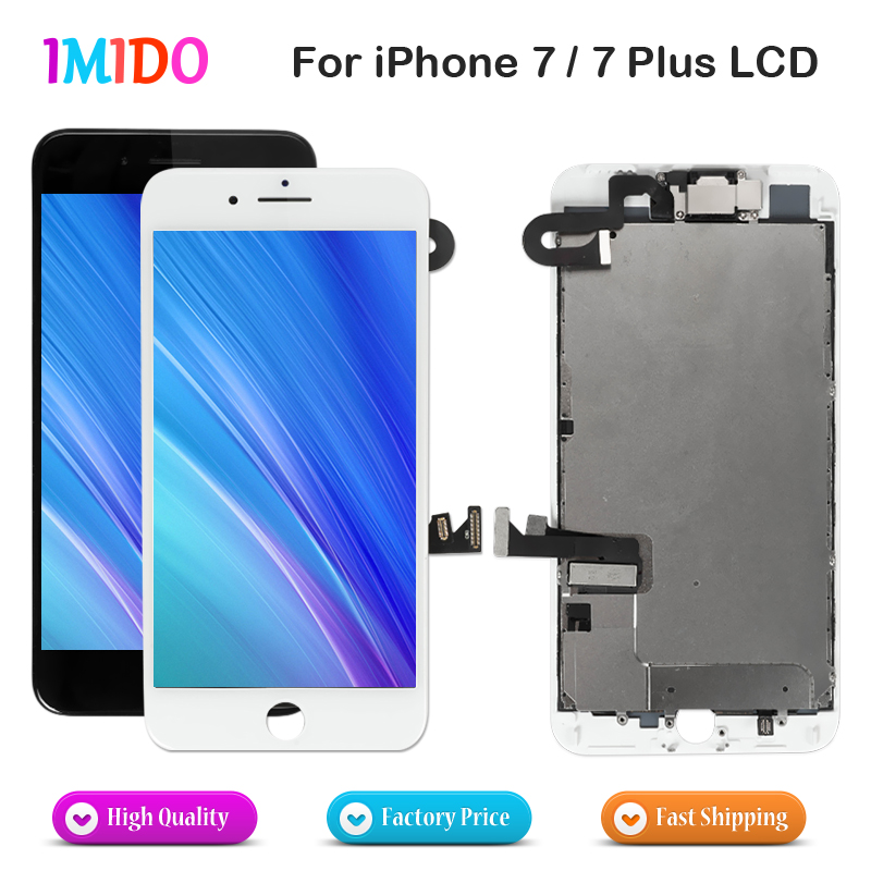 AAA LCD For IPhone 7 7 Plus OEM Display Full Set Digitizer Assembly 3D Touch Screen Replacement+Front Camera+Earpiece Speaker