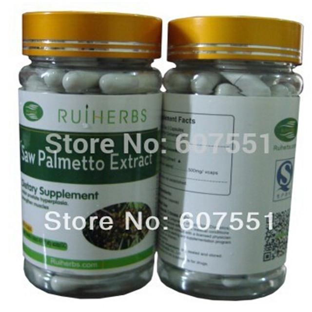 1 Botella de Saw Palmetto Extracto de 500 mg * 90 Cápsulas envío libre