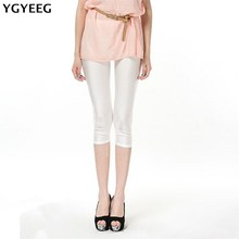 YGYEEG 2019 High Waist Sexy Pants Solid Candy Neon Women Summer Leggings Stretched Clothing Ballet Cropped Trousers