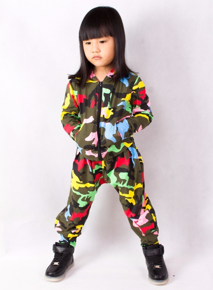 2018 Fashion Spring Autumn Kids Adults bomber Jacket Stage Performance Wear paillette feminina casaco Camo Hip Hop dance coat in Jackets Coats from Mother Kids