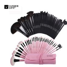 VANDER LIFE 32Pcs Makeup Brush Sets Professional Cosmetics Brushes Set Kit + Pouch Bag Case Woman Make Up Tools Pincel Maquiagem
