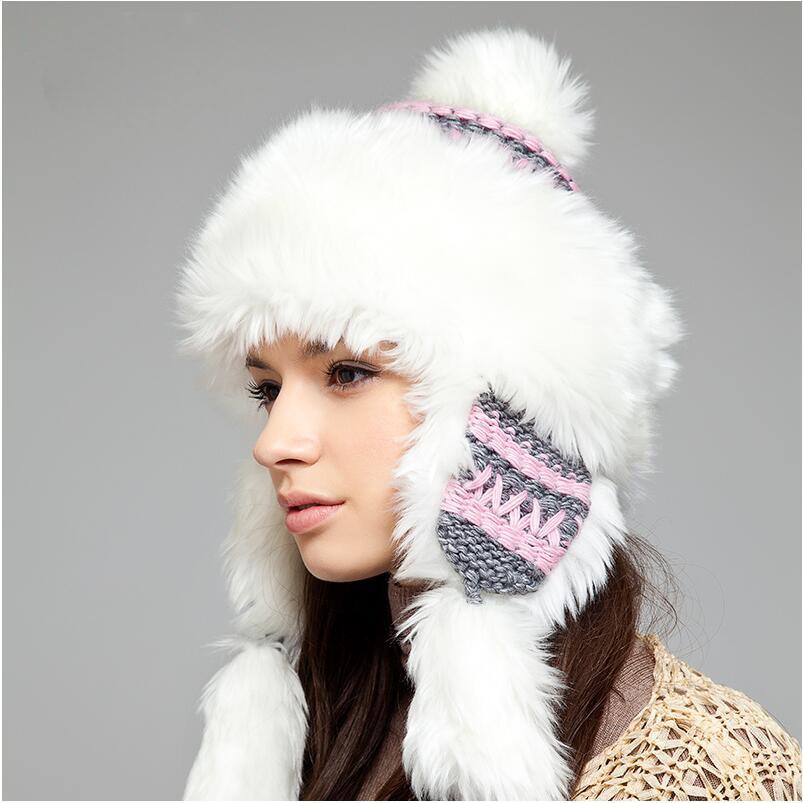 femmes de chapeau de fourrure d 39 hiver chapeaux oreillettes russe bombardier neige chapeaux pour. Black Bedroom Furniture Sets. Home Design Ideas