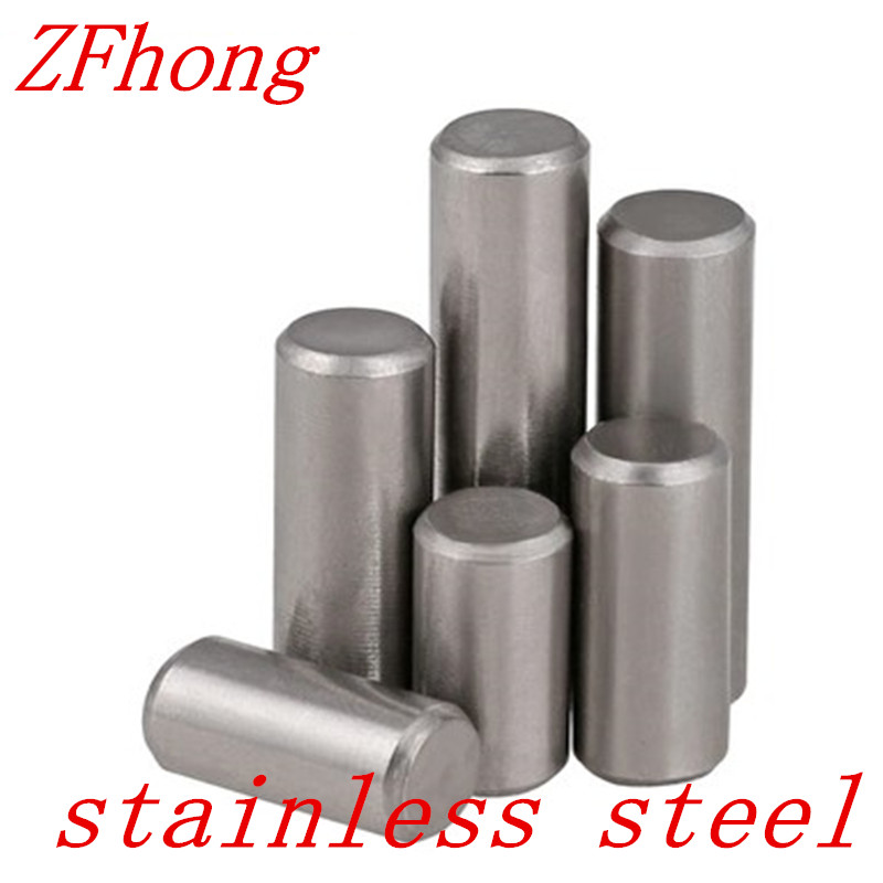 20pcs GB119 Diameter 1.5mm 2mm  2.5mm  3mm 4mm 5mm 304 Stainless Steel Cylindrical Pin Dowel Pins