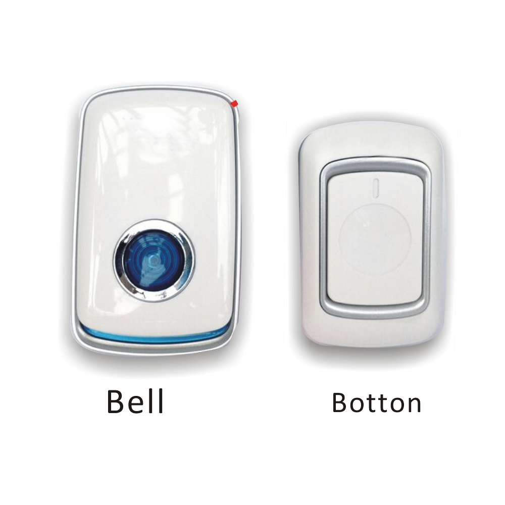 Wireless Smart Doorbell With 1emitter +2 Receivers DC Door Bell 36 Chimes+falish Light 280m Range For Home Office