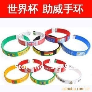 Wholesale World Cup Soccer Football Textile Wristband bracelet