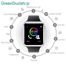 A1 Bluetooth Smart Watch Sport шагомер с 2 г/м² sim-карта TF Камера Smartwatch для Android и ios Россия смартфон(China)