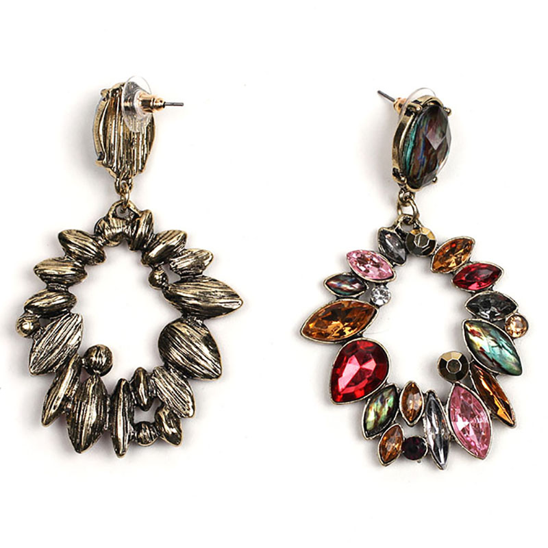 d5ca53b51d US $2.19 20% OFF|JURAN Long Vintage Shiny Earring 2018 Brand Flower Big  Stud Earrings For Women Multicolor Stone Birthday Gift Wholesale X3416a-in  ...