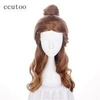 Ccutoo 26 Golden Long Straight Flat Bangs High Temperature Fiber Cosplay Synthetic Wigs Hair Peluca Female