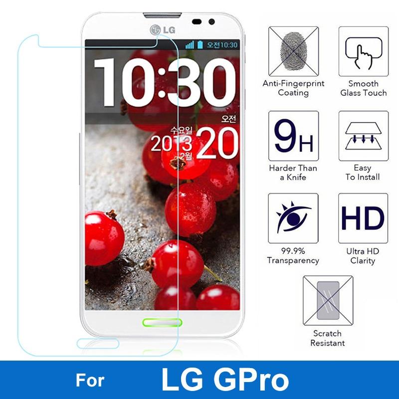 Ultrathin Premium Tempered Glass Film For LG Optimus G Pro 1 Gpro F240 F240s F240k E985 E988 Screen Protector Protective Film