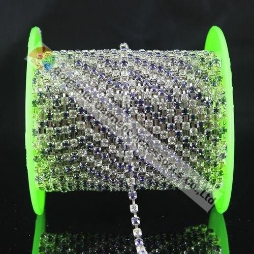 10yd SS16 4 мм Танзанит альтернативный хрустальный Кубок горный хрусталь цепи цвета: золотистый, серебристый базы для DIY browband аксессуары для одежды
