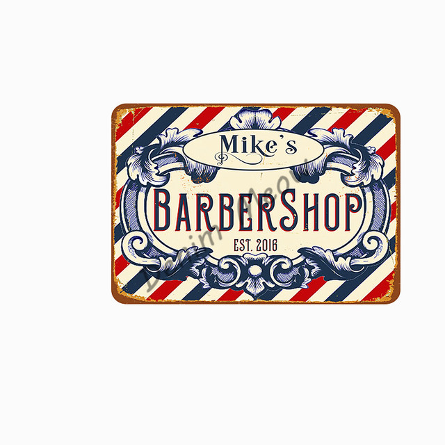 Hair Cutting Retro Plaque Metal Signs BARBER SHOP Vintage Painting Wall Art Posters Cafe Bar Pub Shave & Haircut Home Decor WY28