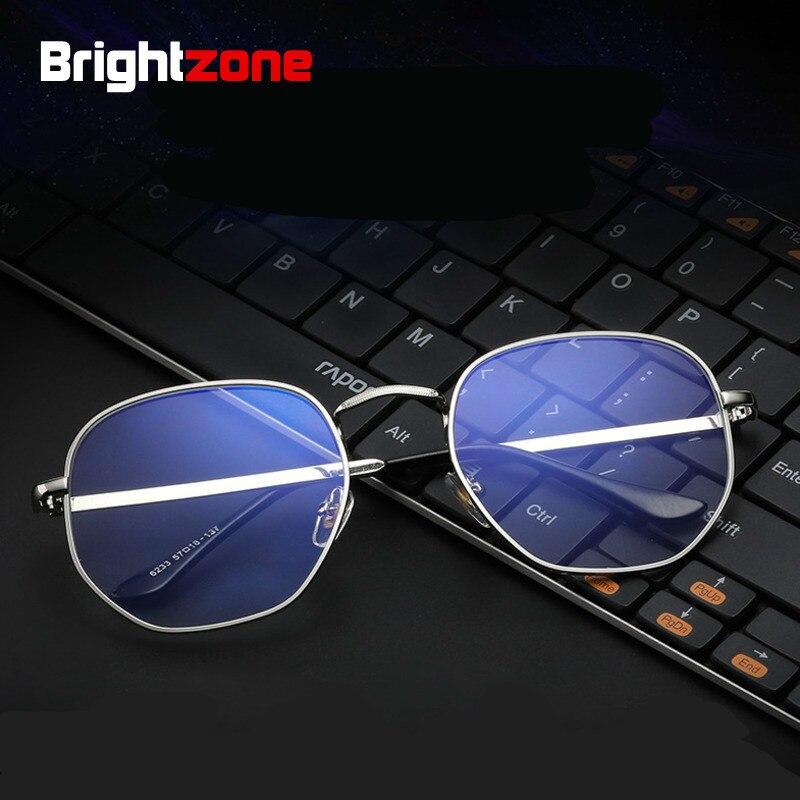Brightzone Blue Light Blocking Glasses Wide Round Computer Glass Woman Frame Eyeglasses Tmall Men Retro Accessories Brands New blue light blocking glasses