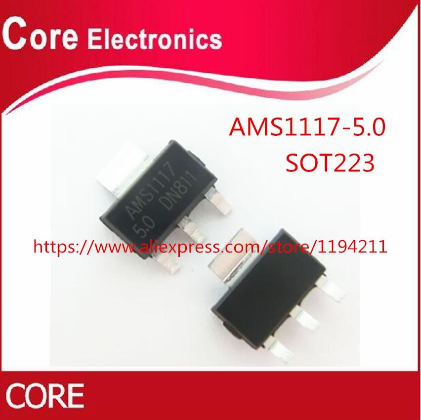 10Pcs AMS1117-3.3 LM1117 3.3V 1A SOT-223 Voltage Regulator DSUK B ob