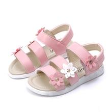 COZULMA Girls Summer Shoes Sandals Children Beach Baby Kids Princess Roman Style Flower for 1-14 Years
