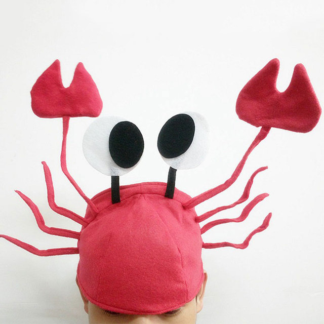 2017 halloween funny hats for party unique cute crab hat cap for halloween christmas party decoration