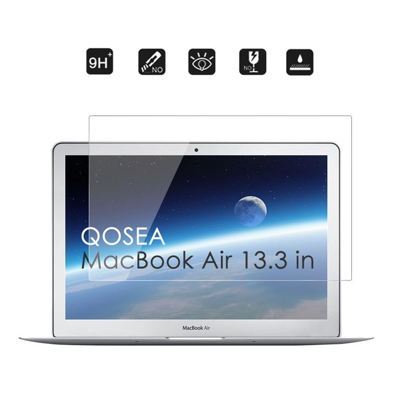 """imágenes para Qosea Para Apple Macbook Air 13.3 """"de Cristal Templado 9 H Resistente A Los Arañazos Claro Para Macbook 13.3"""" Protector de Pantalla Película de alta Calidad"""