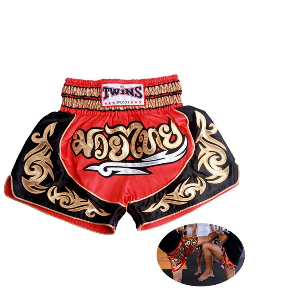 Prix pour Livraison Gratuite 2016 muay thai short muay thai costume les hommes et femmes sport pantalon muay Thai boxe prendre lutte de boxe MMA shorts