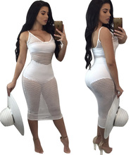 Summer Spring Women Sexy Solid Beach Bodycon Dress White Hollow Out Femme Robe Mujer Vestidos De Festa Vacation Holiday Party