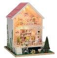 Frete grátis DIY mini casa montada Edifícios Cottage Doce criativo modelo de blocos de construção de Brinquedo educacional das crianças