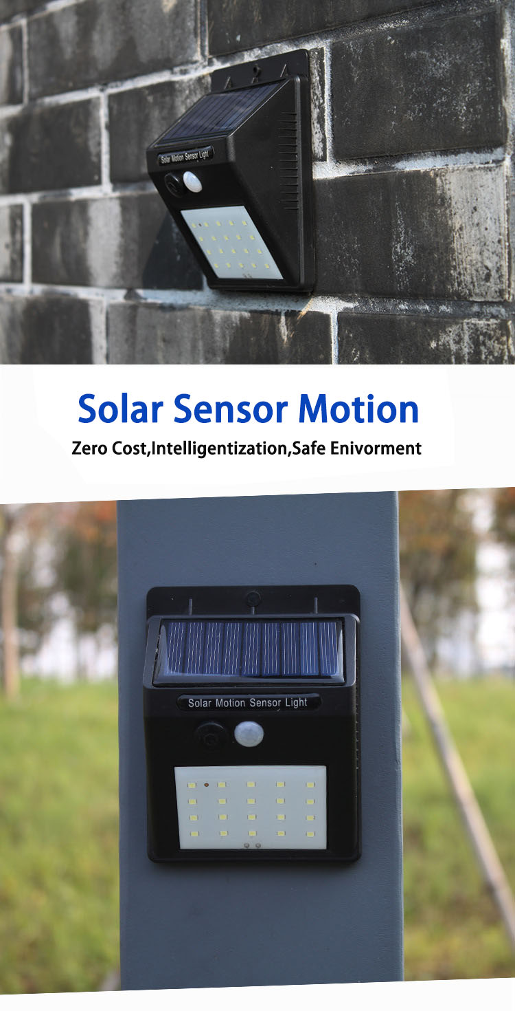 Led Solar Night Light PIR Motion Sensor Wall Light Waterproof 16/20/25/30 LEDs Energy Saving Outdoor Garden Security Solar Lamp 18