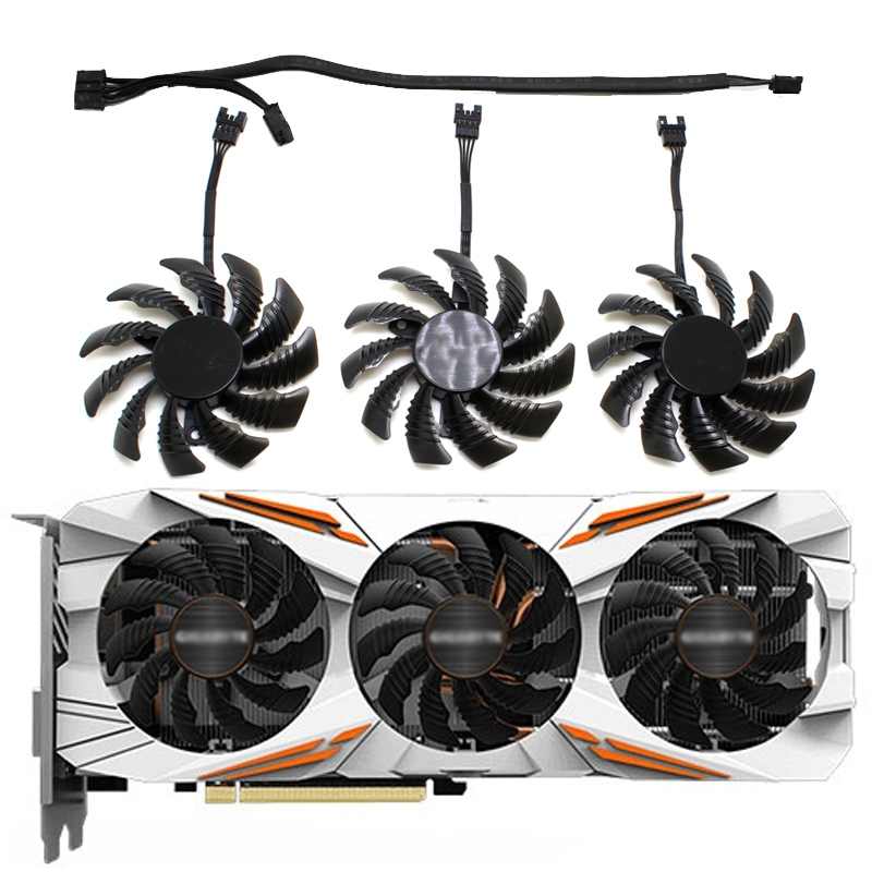75mm T128010SU 0.35A Cooler Fan For Gigabyte AORUS GTX 1060 1070 1080 G1 GTX 1070Ti 1080Ti 960 970 980Ti Video Card Cooler Fan image