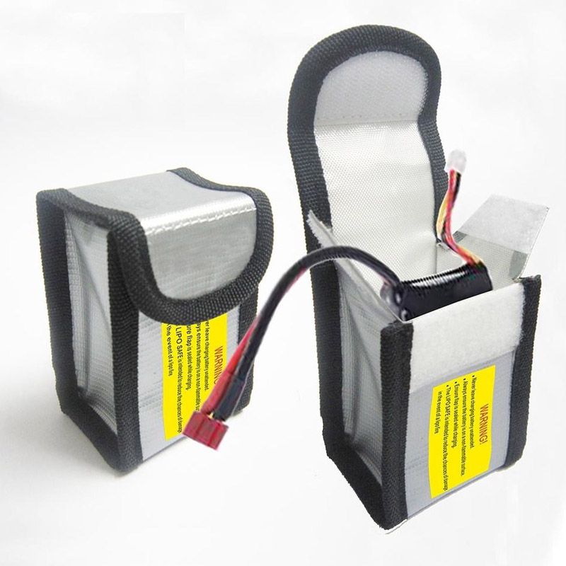 LiPo Battery Safe Guard Charging Perlindungan Bag Fireproof Explosionproof 64 * 50 * 150mm / 64 * 50 * 95mm untuk helikopter quadcopter