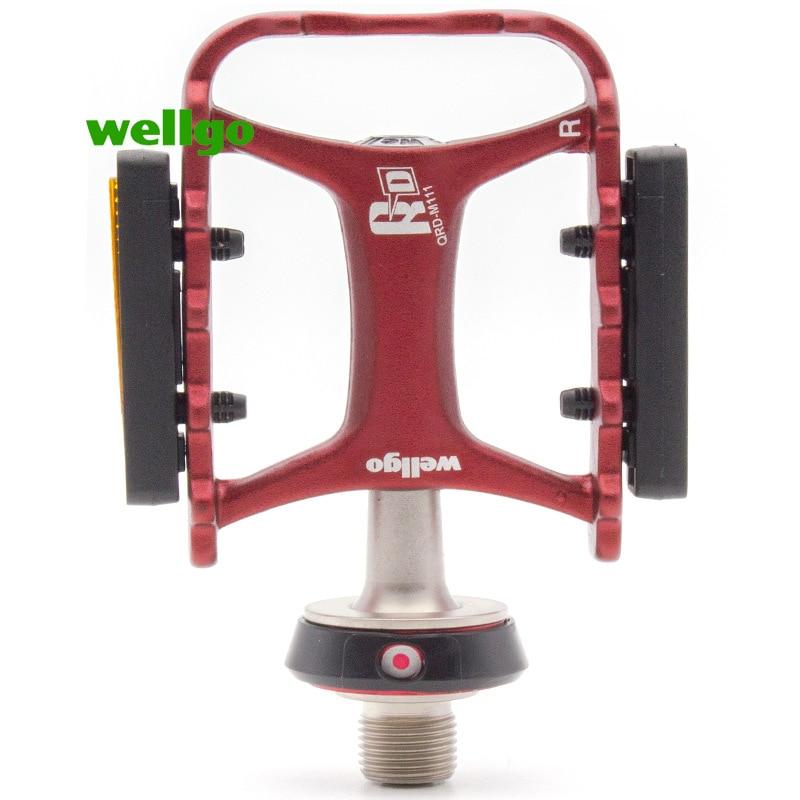 Wellgo QRDII M111 aluminum alloy bearing pedal multi color convenient quick release pedal Bicycle Pedal Road