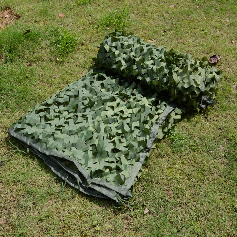 WELEAD 3.5x7m Reinforced Military Camouflage Net Green for Pergola Outdoor Awning Mesh Hide Shade Sun Shelter 3x7 3*7 4x7 4*7 - 4