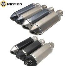 ZS MOTOS אוניברסלי 51mm אופנוע פליטה לשנות Ak עמעם פליטת FZ6 CBR250 CB600 MT07 טרקטורונים עפר בור אופני פליטה
