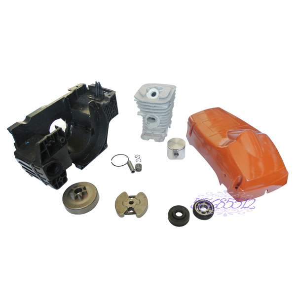 Top Cylinder Engine Cover & Clutch Drum For HUSQVARNA 137 142  Chainsaw Parts 38mm engine housing cylinder piston crankcase kit fit husqvarna 137 142 chaisnaw