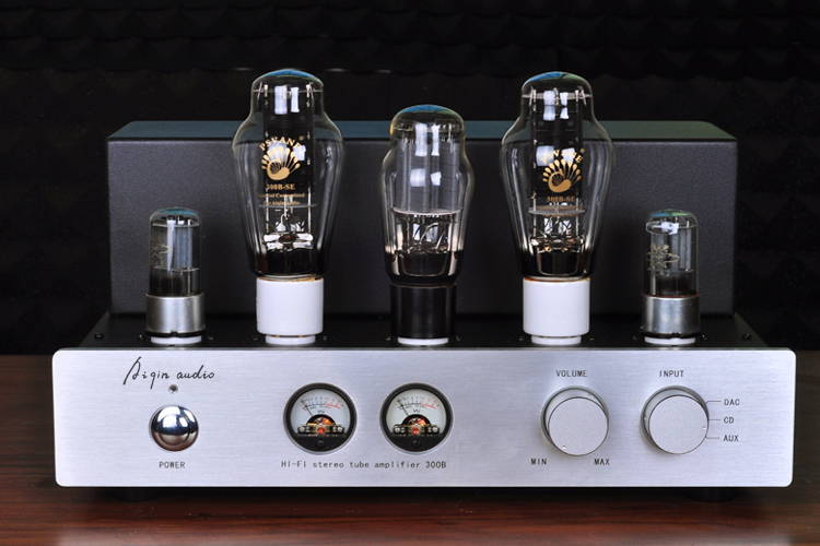 Douk Audio Latest Hi-end PSVANE 300B HiFi Stereo Tube Amplifier Pure Class A Single-ended Amp 9W*2 Handmade Scaffolding Amp
