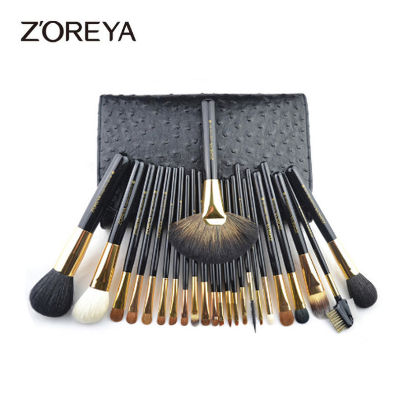 ZOREYA Brand 24pcs Makeup Brushes Professional Eyebrow Eyeshadow Eyelash lip Fan Brush Makeup Brush Set Pincel Maquiagem цена