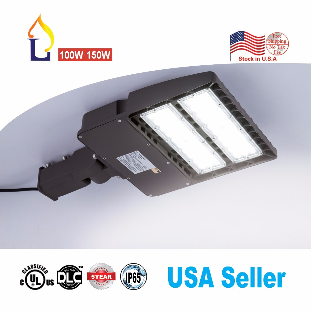 2pc/lot LED shoebox Lights,150W 6000K,18000 Lumens,100-277V,450W-600W Metal Halide Equivalent,LED street lights for parking lot2pc/lot LED shoebox Lights,150W 6000K,18000 Lumens,100-277V,450W-600W Metal Halide Equivalent,LED street lights for parking lot