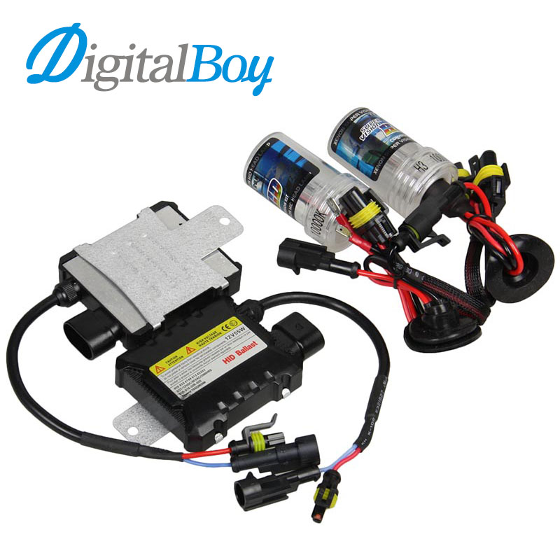 DIGITALBOY 12V 55W H3 Xenon Bulb Car HID Ballast Kit Auto Car Headlight Lamp for 4300k 5000k 6000k 8000k 10000k Car Front Lights digitalboy 12v dc 35w hid h1 xenon ballast kit slim block with bulbs lights headlight 5000k 6000k 8000k car front light lamp