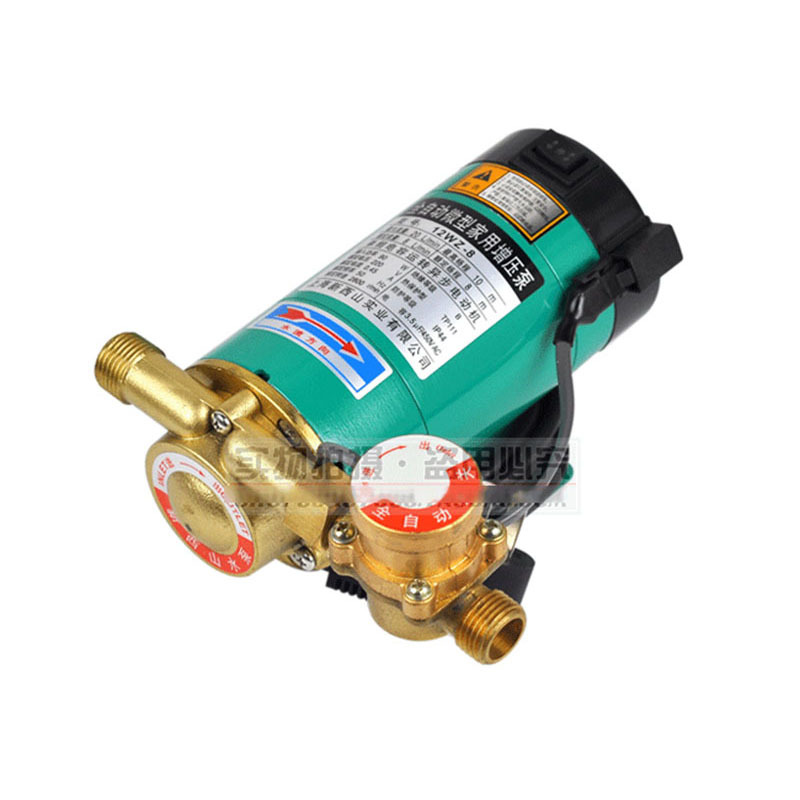 CE Approved Automatic Household Booster Pump12WZ-8 Long Life Copper structure,water heater increase pressure,cooling circulation ce approved micro diaphragm vacuum water pump dp 50 dc 24v 16l min capacity car flushing household heater marine boat ce passed