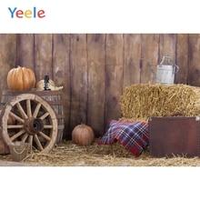 цена Yeele Autumn Rural Farm Barn Haystack Pumpkin Scene Baby Child Photography Backgrounds Custom Photographic Backdrop Photo Studio