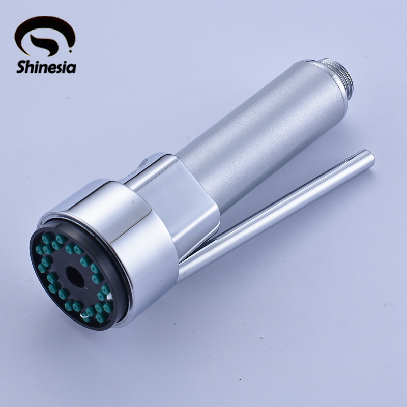 Shinesia Free Shipping Chrome Polished Handheld Spray Kitchen Faucet Replacement Shower Spray Head