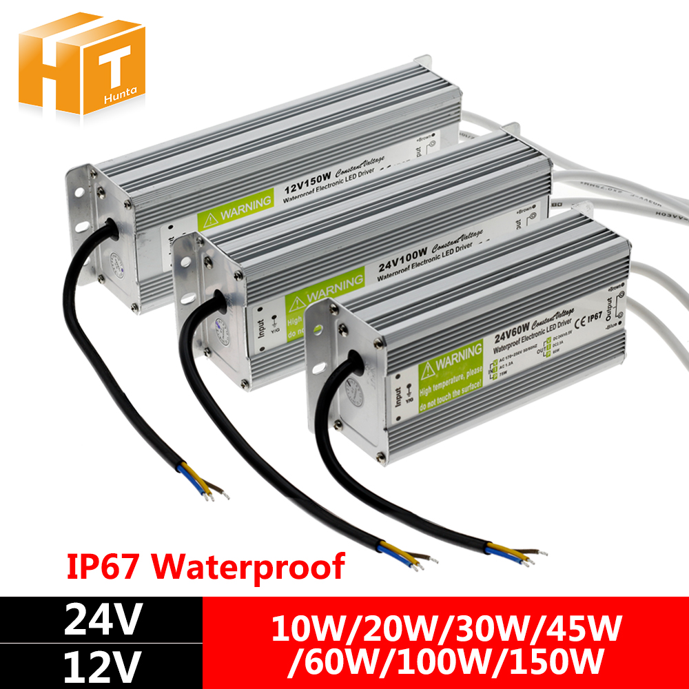 LED Driver DC12V DC24V IP67 Waterproof Lighting Transformers for Outdoor Lighs Power Supply 10W 20W 30W 45W 60W 100W 150W led driver ac220v to dc 12v 10w 20w 30w 60w 100w 150w waterproof ip67 led power supply lighting transformers